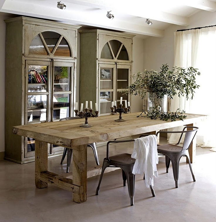 30 Ways To Create A Trendy Industrial Dining Room: 47 Calm And Airy Rustic Dining Room Designs