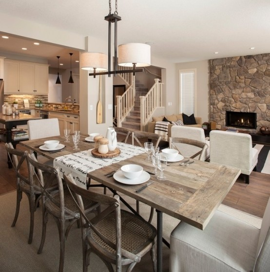 Rustic Chic Dining Room Ideas 47 calm and airy rustic dining room designs - digsdigs