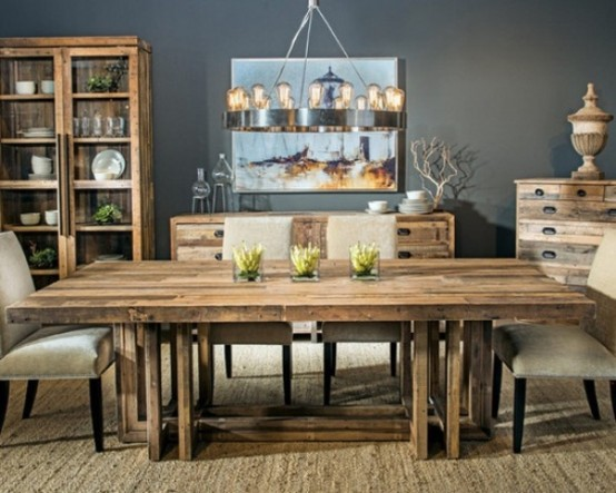 Amazing Calm And Airy Rustic Dining Room Designs