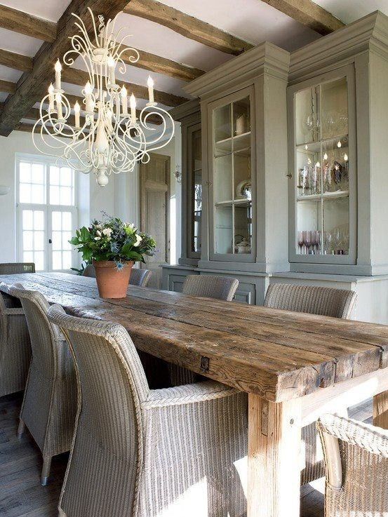 Rustic Dining Room Table 47 calm and airy rustic dining room designs - digsdigs