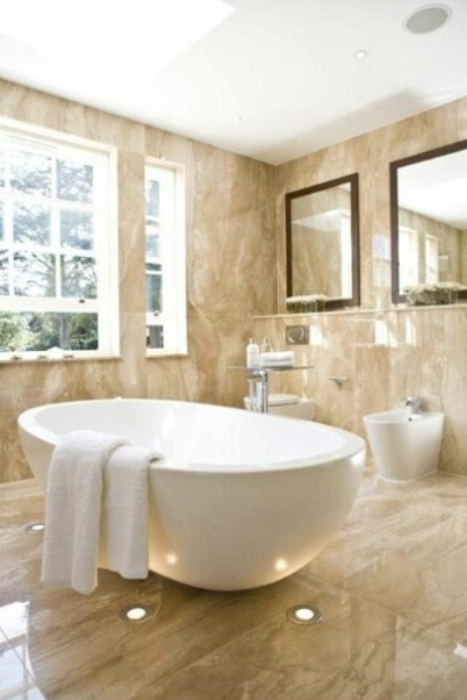 30 Calm And Beautiful Neutral Bathroom Designs  DigsDigs