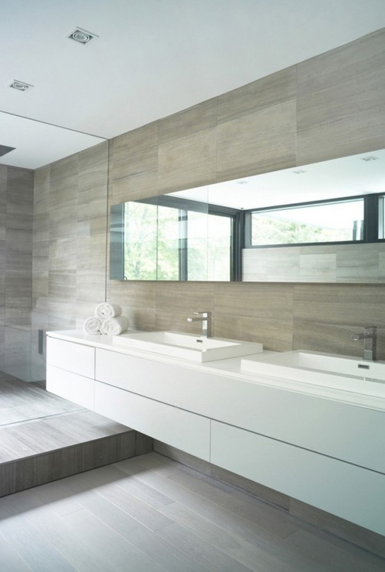 Modern Neutral Master Bathroom 2: 30 Calm And Beautiful Neutral Bathroom Designs
