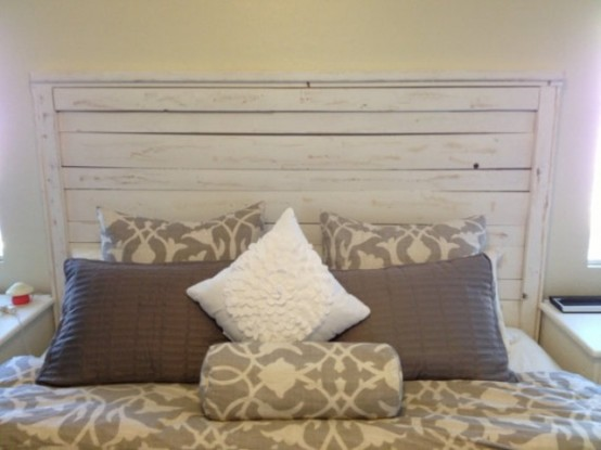 calm and relaxed whitewashed headboards  digsdigs, Headboard designs