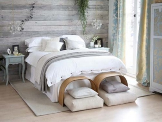 white wooden headboard 27 calm and relaxed whitewashed headboards digsdigs 10384