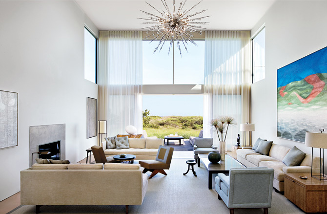 Calm and Simple Beach House Interior Design by Frederick ...