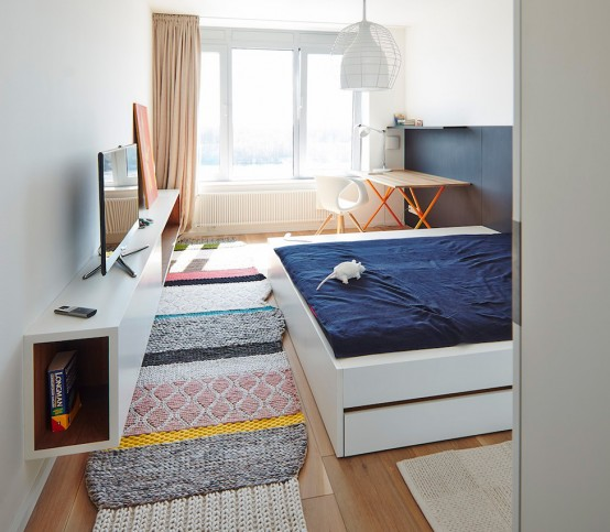 Calm Cafe Au Lait Apartment Interior To Relieve Stress