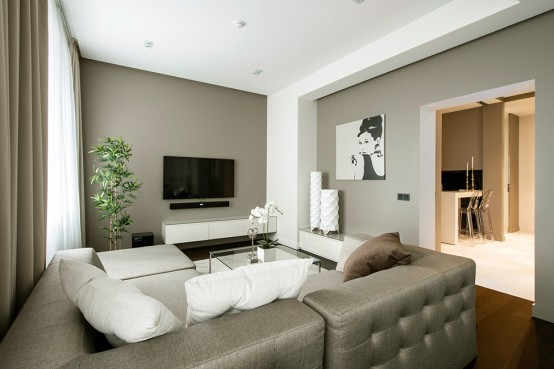 Calm Minimalist Apartment With Eye Catching Textures