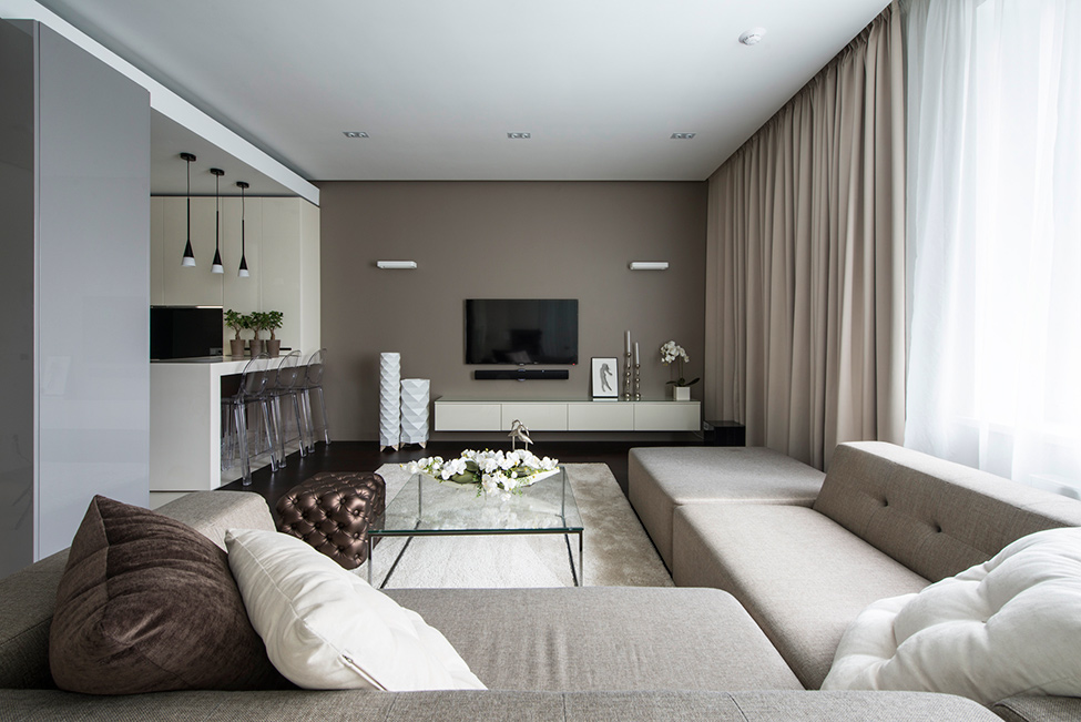 picture of calm minimalist apartment with eye catching textures