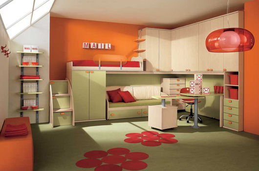 Camerette modern kids bedrooms by arredissima digsdigs for Modern bedroom designs for kids
