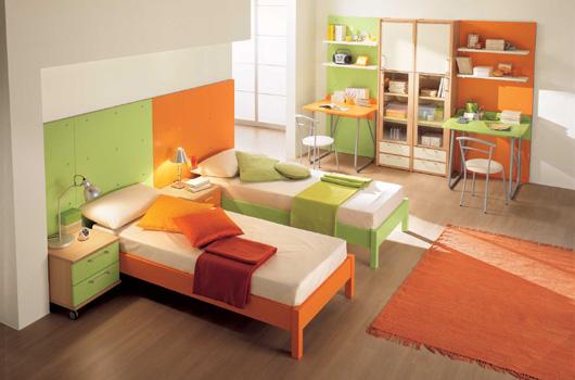 غرف نوم اطفال مودرن روووعة ومفارش لسراير الاطفال camerette-moderne-ki