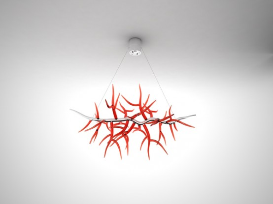 Contemporary Chandelier That Reminds Classic Antler Chandeliers