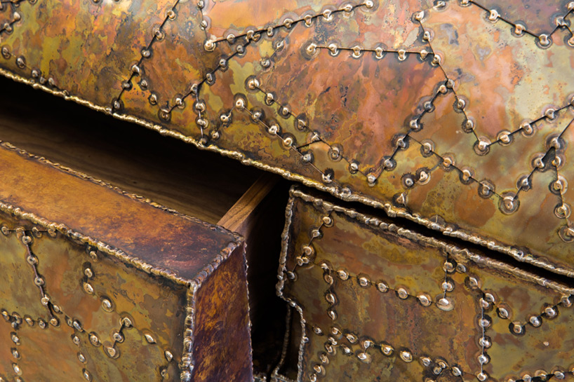 Picture Of carapace furniture collection with hard metal exterior  2