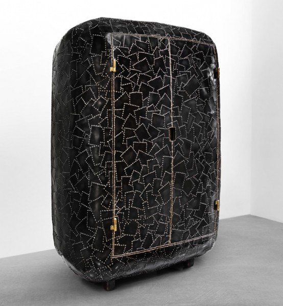 Carapace Furniture Collection With Hard Metal Exterior