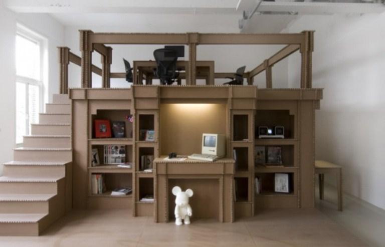 Cheap Modern Office Made Of Cardboard