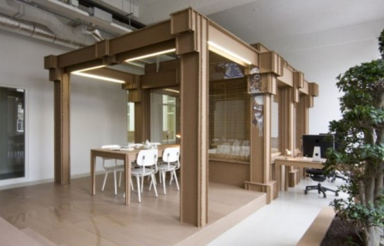Cardboard Office Not To Spend Much Money