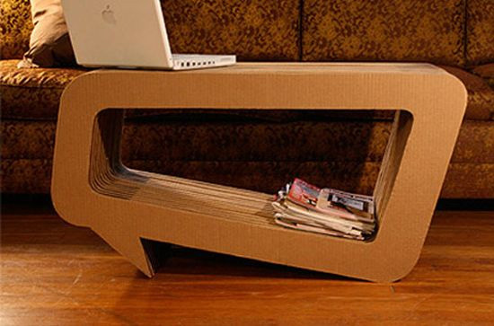 Cardboard Speech Bubble Coffee Table