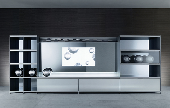 Home central tv unit cartesia from rimadesio digsdigs for Tv cabinet designs for hall