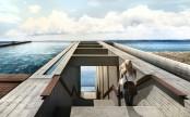 Casa Brutale Right In The Cliffs Above The Aegean Sea