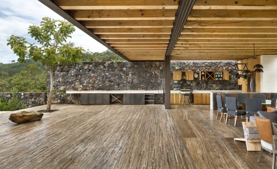 Cascading Mexican House Embedded In A Hilltop Setting