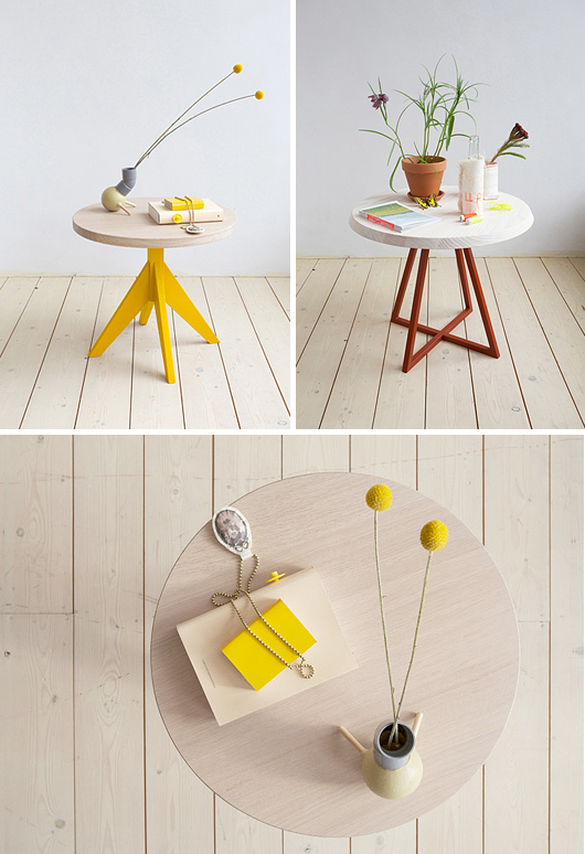 Casual Coffee Tables With Colorful Legs