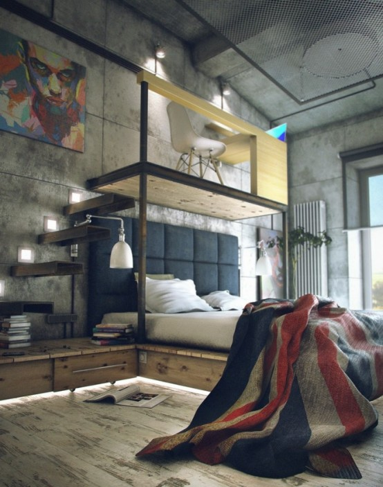 Casual Industrial Loft With Rough Romance