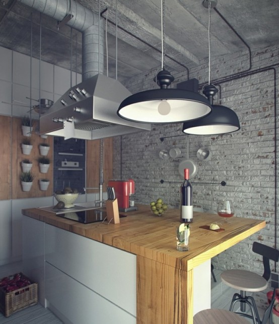 Casual Industrial Loft With Rough Romance Digsdigs