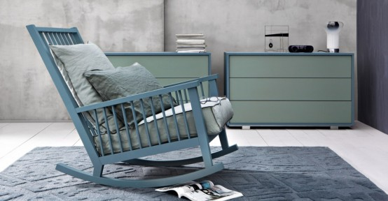 Casual Scandinavian-Inspired Rocking Chair By Gervasoni
