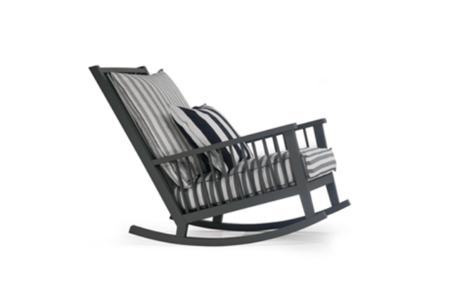 Casual Scandinavian Inspired Rocking Chair By Gervasoni