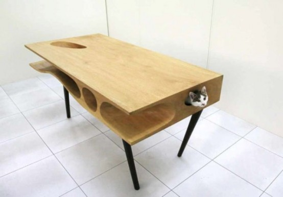 CATable: A Modern Desk For You And Your Cat