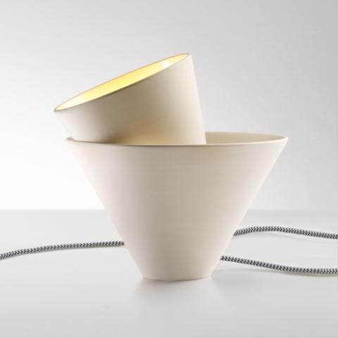 Ceramic Mia Table Lamp Of Two Cones