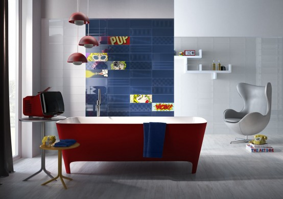 Ceramic Tiles Collection Inspired By The 50s Pop Art