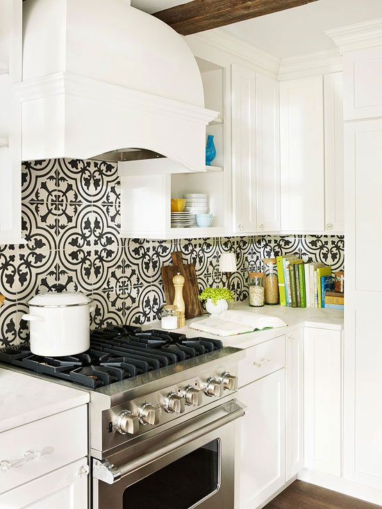 27 Ceramic Tiles Kitchen Backsplashes That Catch Your Eye - DigsDigs