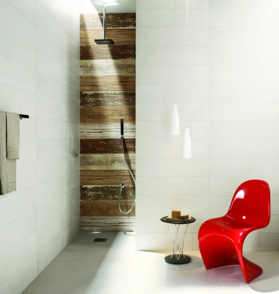 Ceramic Tiles With A Weathered Wood Look