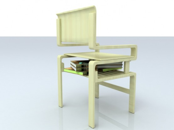 Chair With Bookshelf