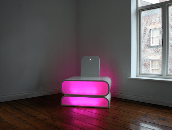 Chair With The Embedded Mood Lighting – Mood Chair by Aether and Hemera