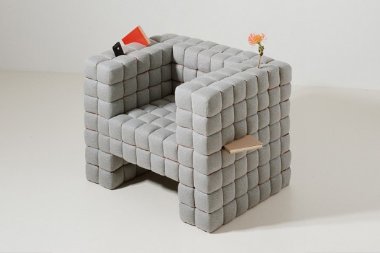 Armchair That Holds And Hides Small Things