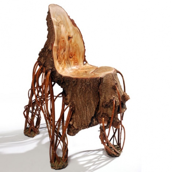 crazy chair looking like a stump digsdigs. Black Bedroom Furniture Sets. Home Design Ideas