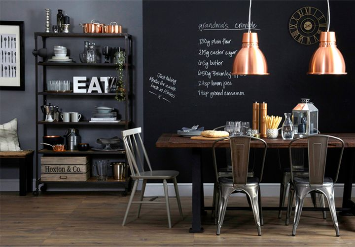 picture of chalkboard dining room decor ideas youll love. Black Bedroom Furniture Sets. Home Design Ideas