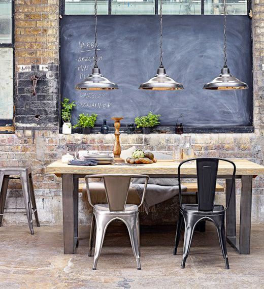 31 chalkboard dining room d cor ideas you ll love digsdigs for Kitchen lighting ideas john lewis