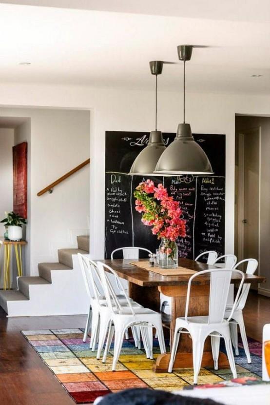 Arredare con la lavagna 15 idee e spunti creativi for Dining room ideas australia