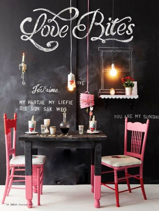 31 Chalkboard Dining Room Décor Ideas You'll Love - DigsDigs