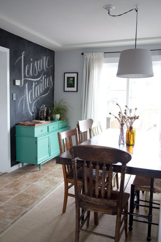 Small Living Room Decorating Ideas: 31 Chalkboard Dining Room Décor Ideas You'll Love