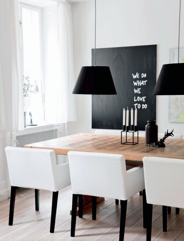 31 chalkboard dining room d cor ideas you ll love digsdigs for Dining room ornaments