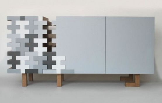 Monochromatic And Chaotic Taree Sideboard by E1+E4