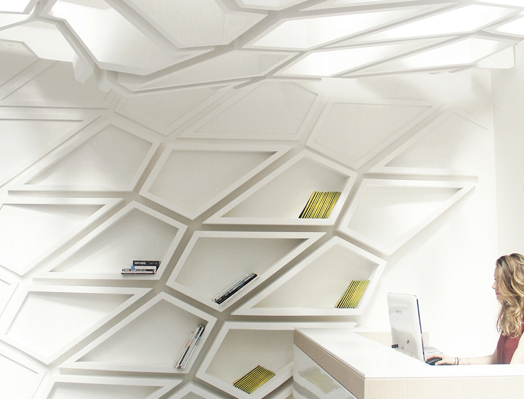 Chaotic And Dimensional Helix Wall Shelves