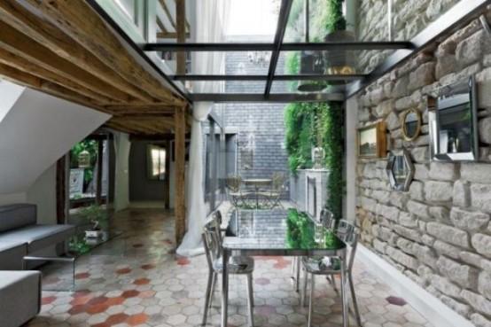 Charming 18th Century Duplex With Chic Minimalist Interior