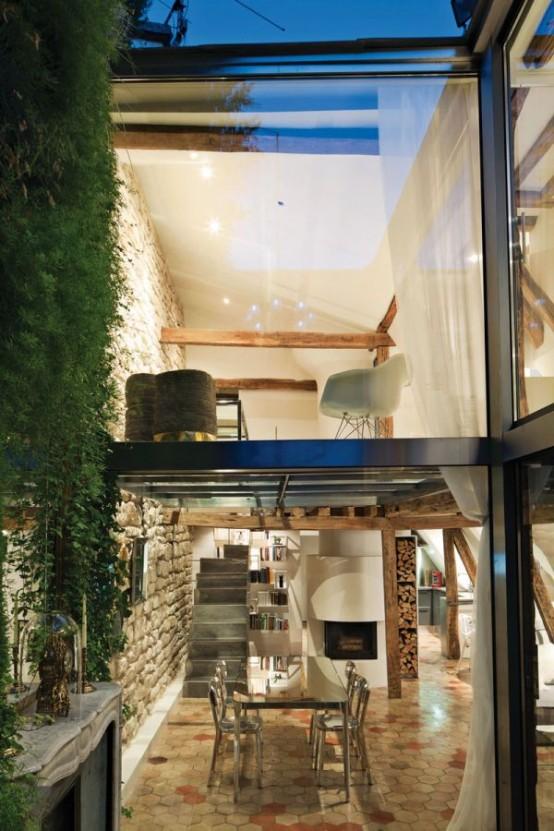 Charming 18th Century Duplex With Chic Minimalist Interior