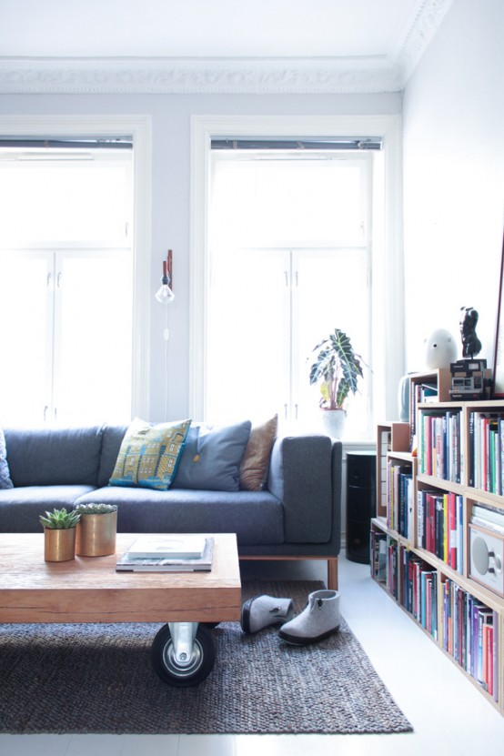 lovely airy scandinavian and mid century modern apartment digsdigs | Charming And Airy Oslo Apartment With Mid-Century ...