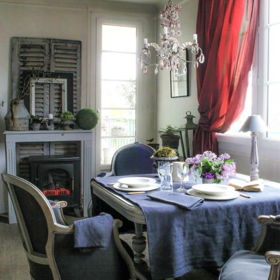 48 Charming French Dining Room Design Ideas
