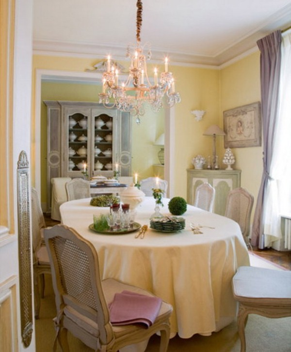 48 charming french dining room design ideas digsdigs for Breakfast room ideas